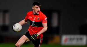 Seán O'Shea of UCC during the Electric Ireland HE GAA Sigerson Cup Final match between St Mary's University College Belfast and University College Cork at O'Moore Park in Portlaoise, Laois. Photo by Piaras Ó Mídheach/Sportsfile