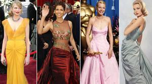 (L to R) Michelle Williams, Halle Berry, Gwyneth Paltrow and Grace Kelly at the Oscars over the years