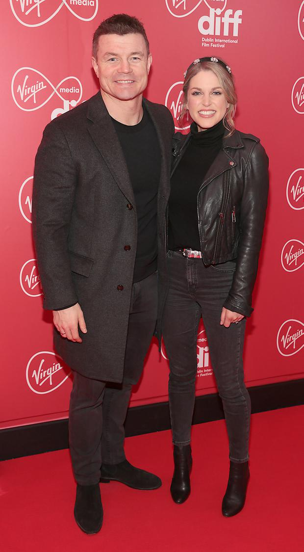 Brian O Driscoll and Amy Huberman at the premiere of Papi Chulo, the opening gala of the Virgin Media Dublin International Film Festival 2019 at Cineworld, Dublin. Picture: Brian McEvoy