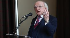 Irish President Michael D Higgins. (Danny Lawson/PA)