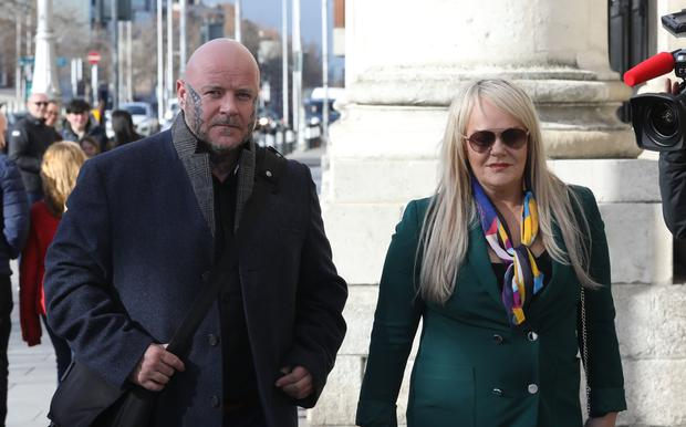 Eddie O'Connor and Michelle Farrell - parents of Saibhe O'Connor, pictured leaving the Four Courts Pic: Collins