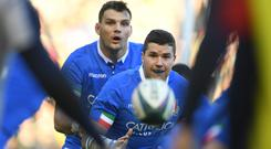 Italy player Sebastian Negri in action during the Guinness Six Nations Championship match between Scotland and Italy at Murrayfield. (Photo by Stu Forster/Getty Images)