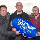 Paul O'Connell with Left Wing hosts Luke Fitzgerald and Will Slattery