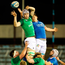 Ireland's Niall Murray wins possession from a lineout. Photo: Sportsfile