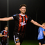 Dinny Corcoran of Bohemians celebrates after scoring his side's second goal. Photo: Sportsfile
