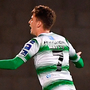 Dylan Watts celebrates opening the scoring for Shamrock Rovers