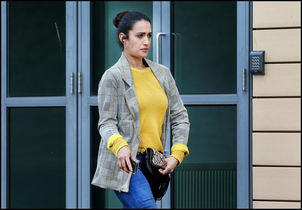 Leanne Gleeson, Mount Eustace Crescent, Tyrrelstown, pictured leaving Blanchardstown District Court.