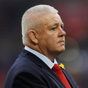 Wales head coach Warren Gatland during the warm up before the match Action Images via Reuters/Paul Childs