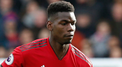 'Pogba only has eyes on the Liverpool game because he is suspended for the midweek Champions League second leg against Paris Saint-Germain' Photo: Getty Images