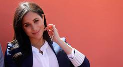 Meghan, Duchess of Sussex attends an Investiture for Michael McHugo the founder of 'Education for All' with the Most Excellent Order of the British Empire on February 24, 2019 in Asni, Morocco