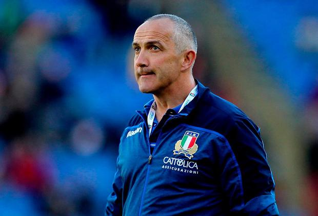Italy head coach Conor O'Shea (Photo by Paolo Bruno/Getty Images)