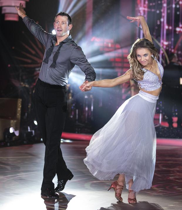 Denis Bastick with Valeria Milova dancing during show Eight of Dancing With The Stars. Photo: Kyran O'Brien