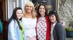 Equal rights: Tracey Kelliher, Miriam O'Callaghan, Katie Hannon and Jackie Kelliher at last year's Women in Media Conference. Photo: Domnick Walsh