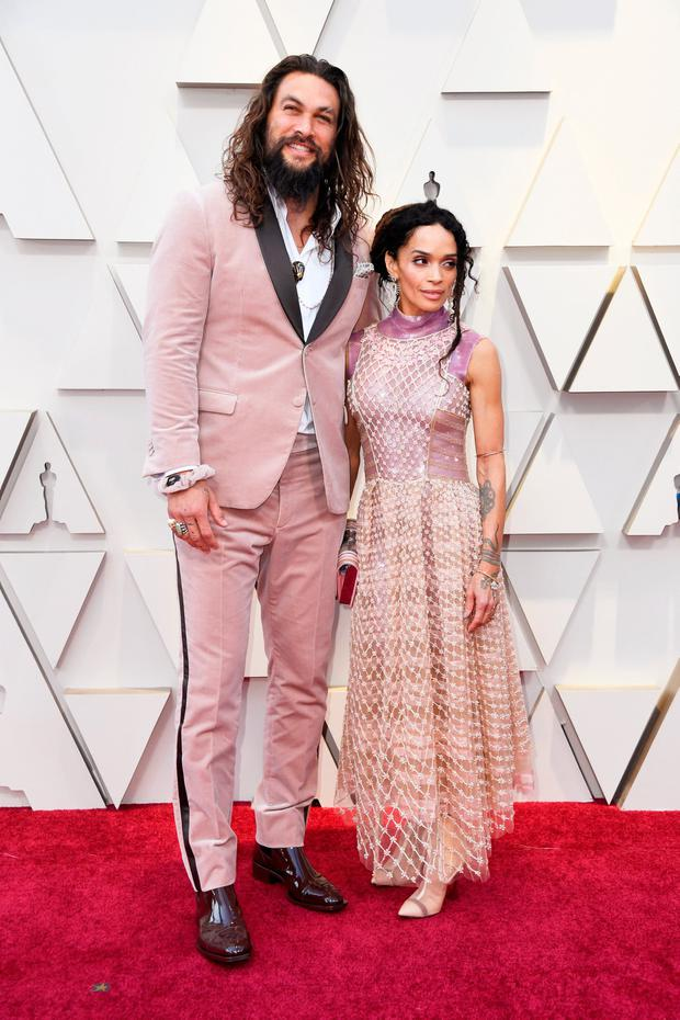 (L-R) Jason Momoa and Lisa Bonet attend the 91st Annual Academy Awards at Hollywood and Highland on February 24, 2019 in Hollywood, California. (Photo by Frazer Harrison/Getty Images)