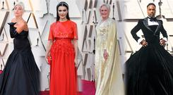 (L to R) Lady Gaga, Rachel Weisz, Glenn Close and Billy Porter at the Oscars