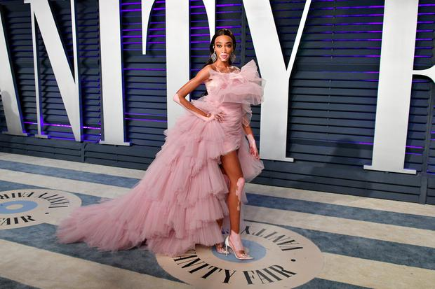 Winnie Harlow attends the 2019 Vanity Fair Oscar Party hosted by Radhika Jones at Wallis Annenberg Center for the Performing Arts on February 24, 2019 in Beverly Hills, California. (Photo by Dia Dipasupil/Getty Images)