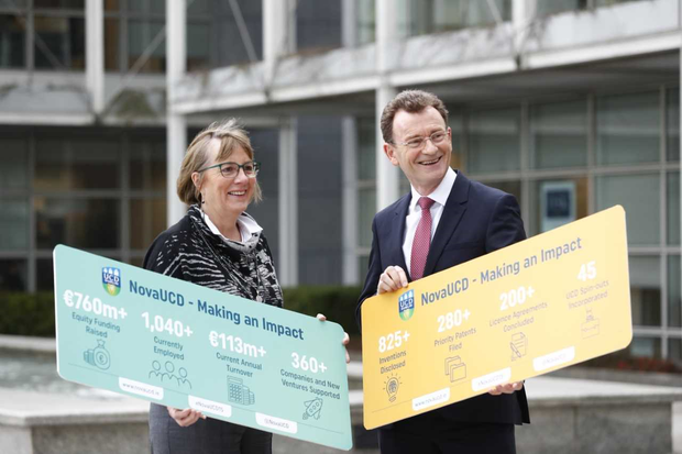 Julie Sinnamon, CEO, Enterprise Ireland and Tom Flanagan, UCD Director of Enterprise and Commercialisation (Conor McCabe Photography)