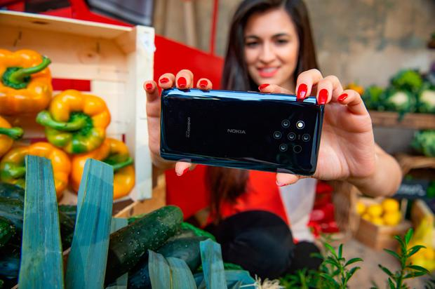 Nokia unveiled its new 9 Pureview phone with five cameras at the Mobile World Congress in Barcelona. PHOTO: PA/WIRE