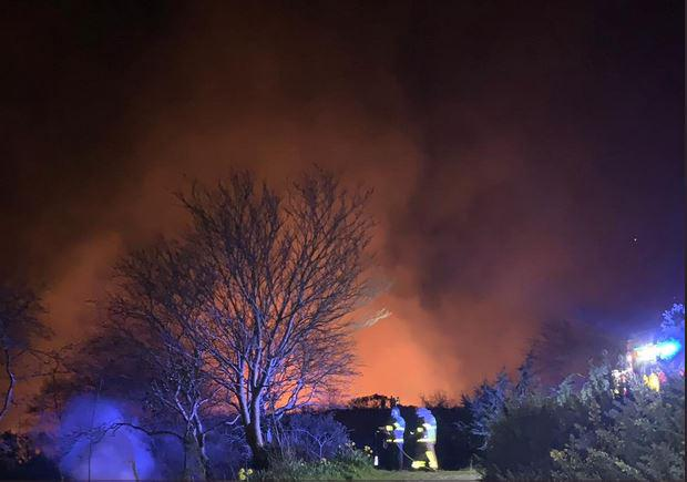 Gorse fire in the Dublin Mountains last night.