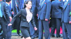 Sister acts: Kim Yo-jong, the sister of North Korean leader Kim Jong-un, hurries to help organise her brother's arrival in Vietnam. Photo: REUTERS/Stringer