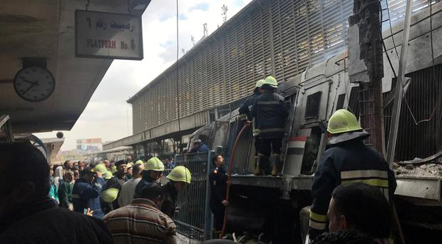 At least ten killed and more than 20 injured in fire at Cairo's main train station