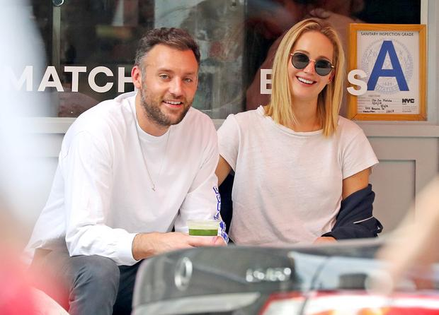 Jennifer Lawrence and Cooke Maroney in New York City. Picture: Felipe Ramales / SplashNews.com