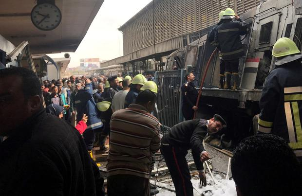 Fire erupts in main train station in Egypt's capital, casualties feared