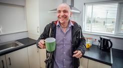 Liam, a tenant in Peter McVerry Trust's new social housing development in Ravenswood, Fingal