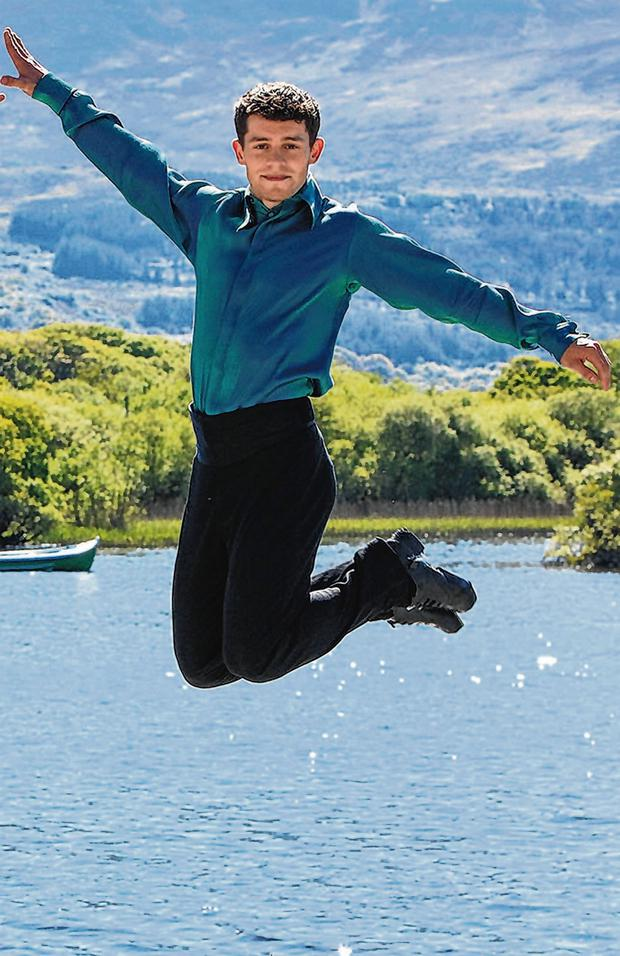Jump Start: Tomás Ó Sé in his Riverdance clothing in Killarney. Photo: Valerie O Sullivan.