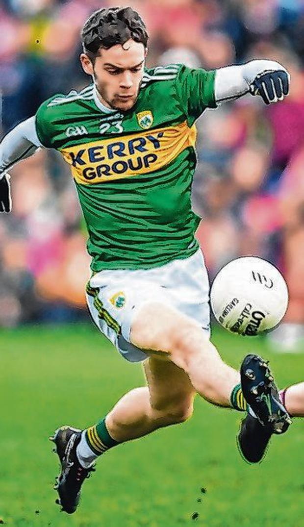 Ó Sé in action for Kerry against Galway. Photo: Stephen McCarthy/Sportsfile