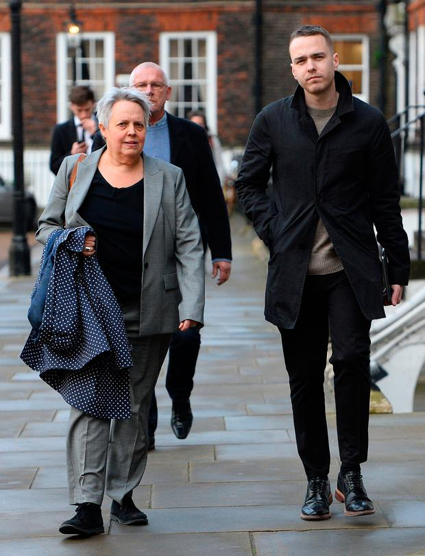 David Challen outside the High Court in London after his mother, Georgina Challen, known as Sally, won an appeal against her conviction for the murder of her husband Richard in a hammer attack at their home in Surrey Photo: Kirsty O'Connor/PA Wire