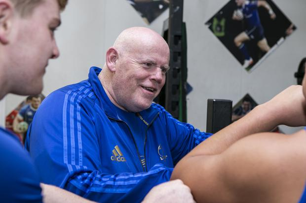 Dave Fagan, Head of S&C in the Leinster Rugby Sub Academy pictured at an early morning Session in Donnybrook.