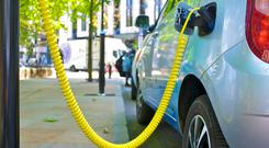 The sale of electric vehicles is bucking the trend elsewhere in the market where new car registrations are down 12.2pc over the same period last year. Stock photo: Getty