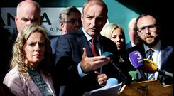 Opposites: Micheál Martin needs to differentiate Fianna Fáil from Fine Gael to win. Picture: Steve Humphreys