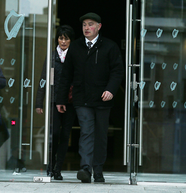 Patrick Quirke and his wife Imelda leaving the courthouse. Picture: Collins