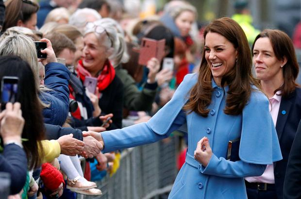 Kate Middleton arrives at the Braid Centre in Ballymena, Northern Ireland, February 28, 2019. Reuters/Phil Noble
