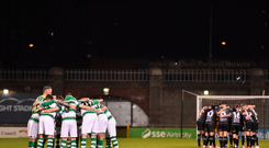 The Shamrock Rovers team before clash with Dundalk