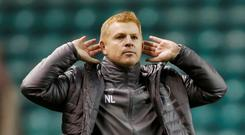 Celtic manager Neil Lennon celebrates after beating Hibernian.REUTERS/Russell Cheyne
