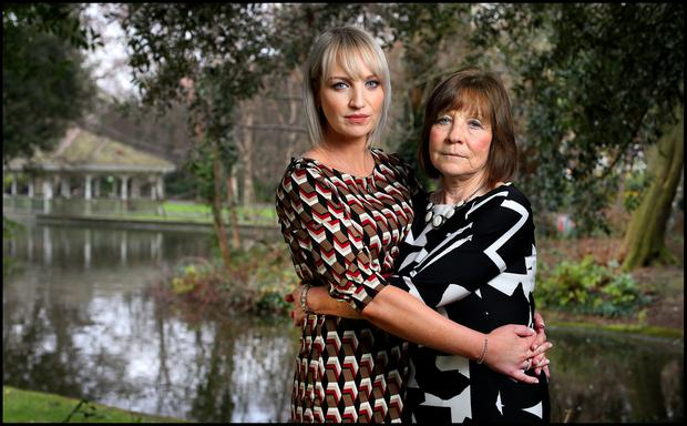 A FAMILY'S ORDEAL: Clodagh's sister Jacqueline Connolly and mother Mary Coll — Photo: Steve Humphreys