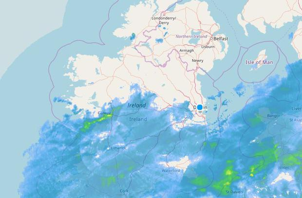 The latest radar from Met Eireann