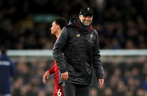 Jurgen Klopp's side have slipped behind Manchester City (Peter Byrne/PA)