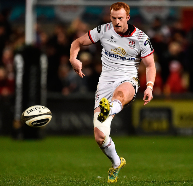 Ulster's Peter Nelson during the match. Photo: Oliver McVeigh/Sportsfile