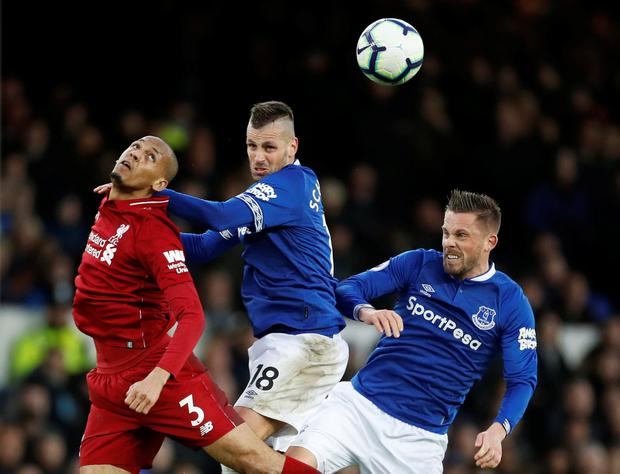 Fabinho (left) has not exactly set the world on fire since joining Liverpool. Photo: Action Images via Reuters/Carl Recine