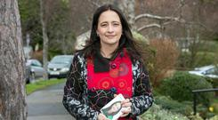 Highlighting issue: Green Party deputy leader Catherine Martin says she had to buy sanitary products for students in a school she worked in. Photo: Tony Gavin