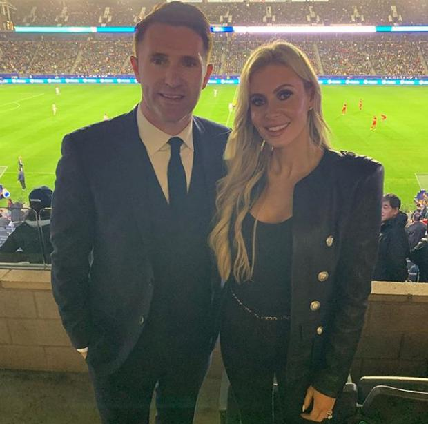 Robbie and Claudine Keane in Los Angeles. Picture: Twitter