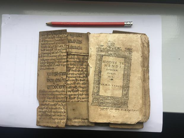 'Avicenna Fragment' bound to 16th century book