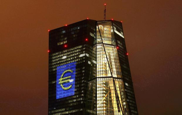 European Central Bank  cuts growth, inflation forecasts