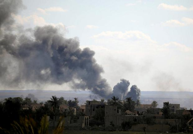 Backed fighters make slow advance into Isis pocket in Syria
