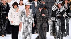 PARIS, FRANCE - MARCH 05: Cara Delevingne (2nd L) and models walk the runway during the finale of the Chanel show as part of the Paris Fashion Week Womenswear Fall/Winter 2019/2020 on March 05, 2019 in Paris, France. (Photo by Pascal Le Segretain/Getty Images)