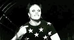 Keith Flint in the Firestarter video, The Prodigy 1997